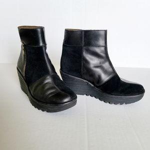 "Fly London ""Yime"" booties sz 36 (5.5 - 6) black"